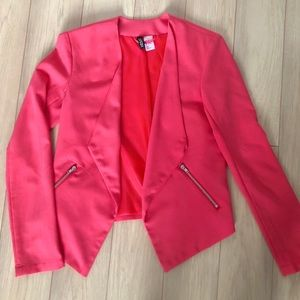 H&M Hot Pink Open Front Jacket